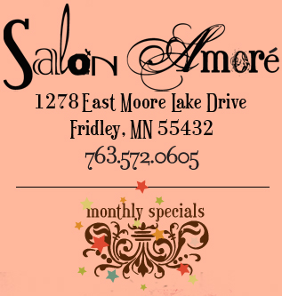Salone Amore Spa. Visit us at 1278 East Moore Lake Drive - Fridley, MN 55432 - 763.572.0605